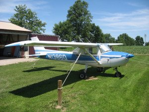 Cessna 150 N1386Q at home
