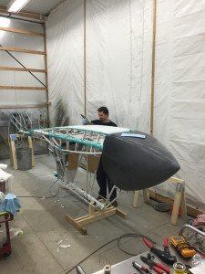 Levi covering fuselage