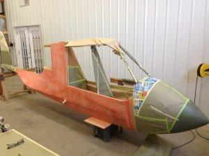 fuselage in pink
