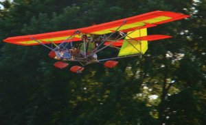 orange and yellow aerolite flying
