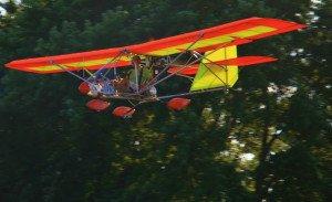 orange and yellow aerolite flying